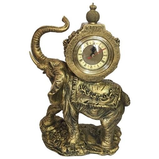 Часы настольные Слон цвет: бронза L22W10H35 см - фото 251664