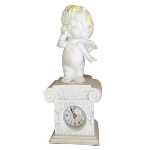 Часы настольные Ангел-I цвет: белый Н25.5 см - фото 251670