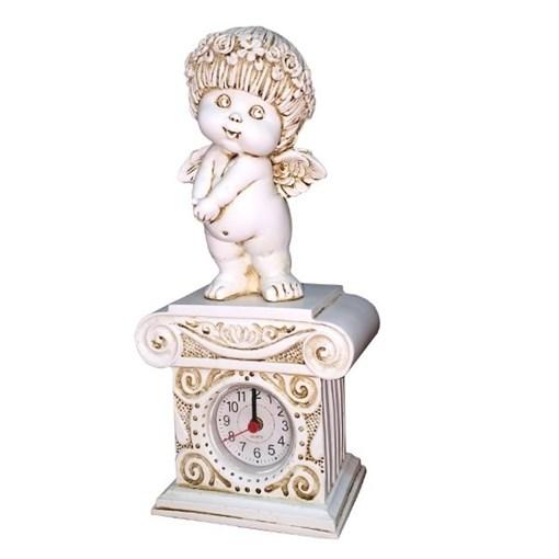 Часы настольные Ангел цвет: антик Н25.5 см - фото 251671