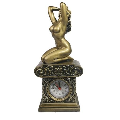 Часы настольные Девушка L11.5W8.5H26 см - фото 251673