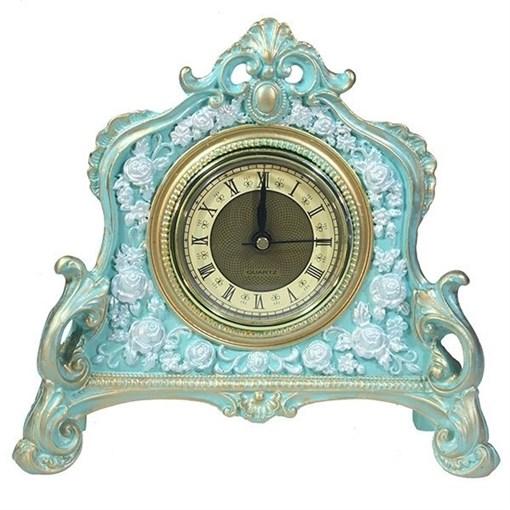 Часы настольные цвет: бирюзовый L21W6.5H19 см - фото 251675