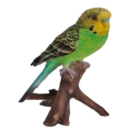 Фигура садовая навесная Зеленый попугай L9.7W8H16.5 см. - фото 252044