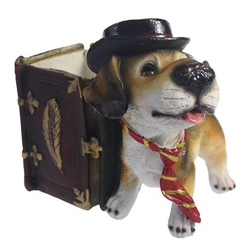 Карандашница Собака в шляпе L12W17H15см - фото 252211