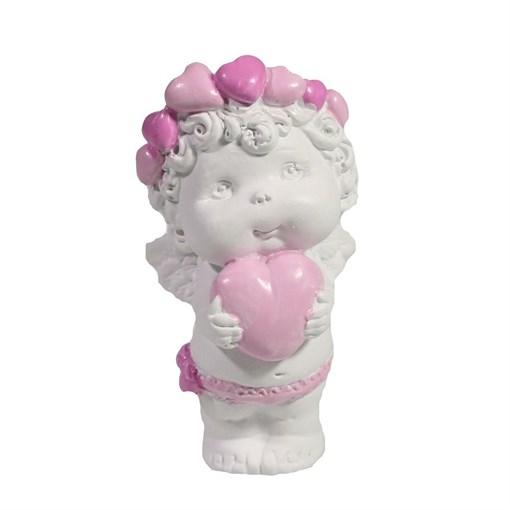 Изделие декоративное Ангел с сердечком L5W6H9см - фото 252299