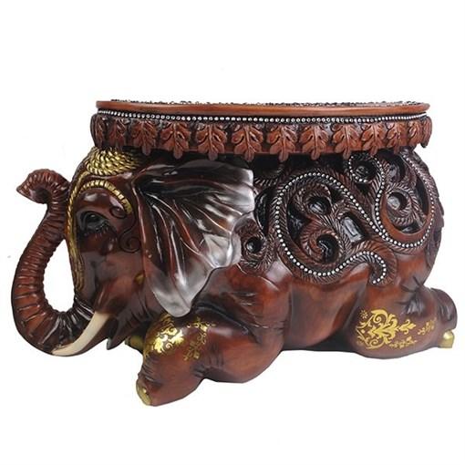 Изделие декоративное Слон цвет: коричневый L55W22H32см - фото 252356
