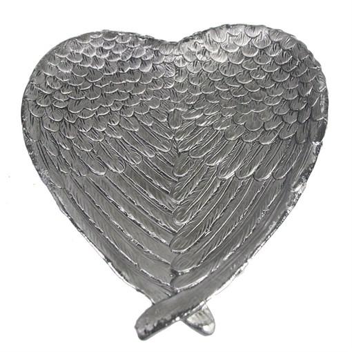 Подставка под мелочи Крылья ангела цвет: серебро L23W20H3.5см - фото 252366
