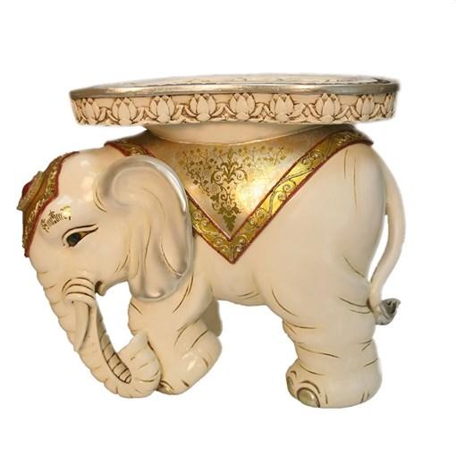 Изделие декоративное белый Слон L48W35H41см - фото 252372