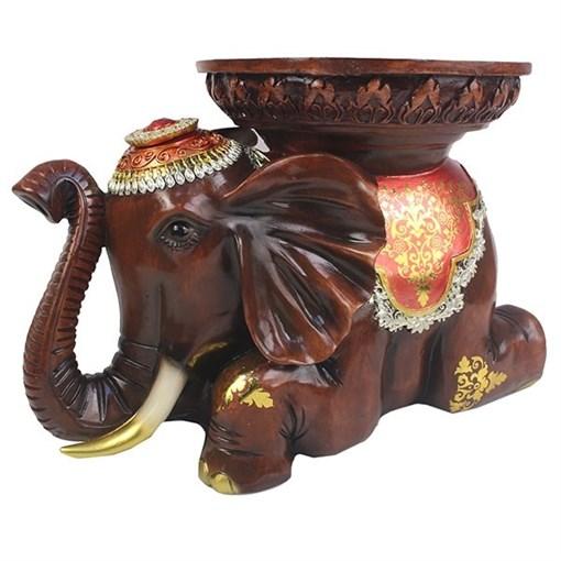 Изделие декоративное Слон цвет: красное дерево L46W29.5H32см - фото 252377
