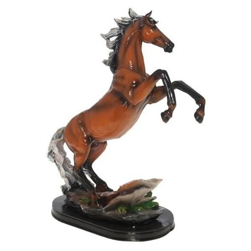 Фигура декоративная Конь цвет: пегий L30W15H40см - фото 252405