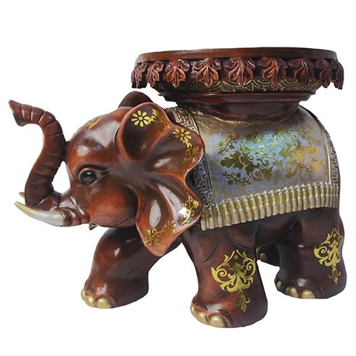 Изделие декоративное Слон цвет: красное дерево L48W28H32см - фото 252412