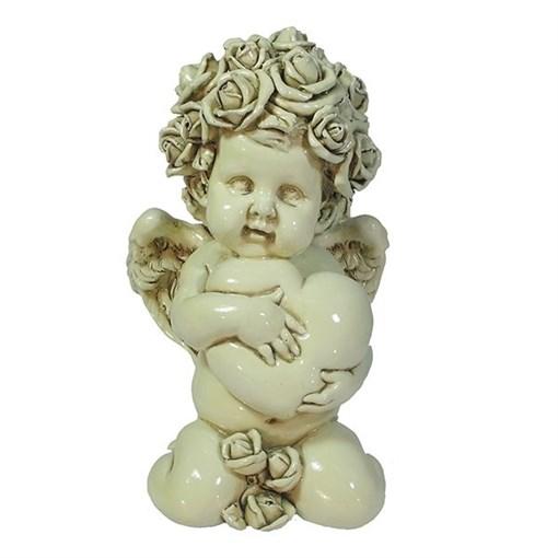 Фигука Ангел Сердечной привязанности цвет: слоновая кость L12W9H19см - фото 252415