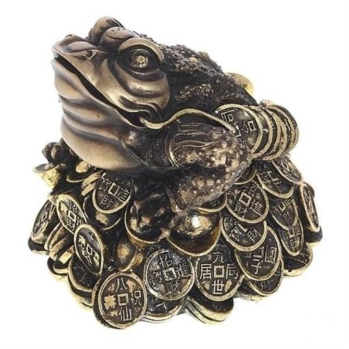 Фигура декоративная Лягушка цвет: золото L14W15H14см - фото 252437