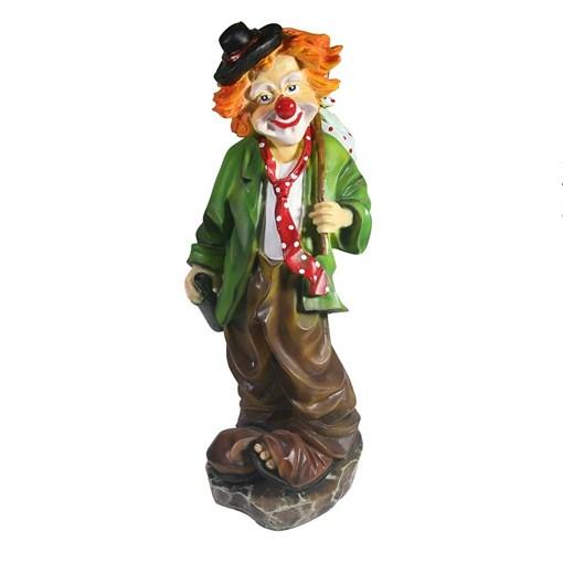 Фигура декоративная Клоун с бутылкой L13W13H36см - фото 252443