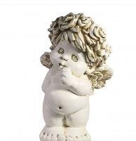 Фигура декоративная Ангел стоит цвет: антик L21.5W18.5H33см - фото 252447