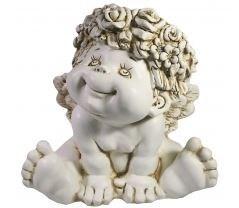 Фигура декоративная Ангел сидит цвет: антик L24.5W18.5H25см - фото 252449