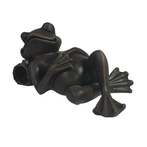 Фигура декоративная Лягушка отдыхает цвет: черный L18W9H9см - фото 252472