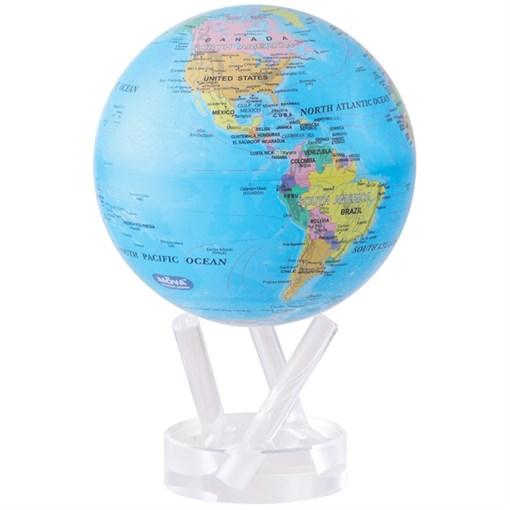 Глобус самовращающийся MOVA GLOBE d16,5 см с  политической  картой Мира - фото 259408