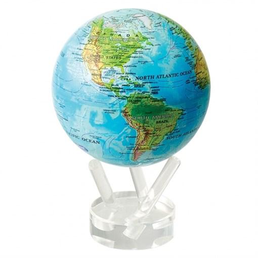 Глобус самовращающийся MOVA GLOBE d16,5 см с общегеографической  картой Мира - фото 259410