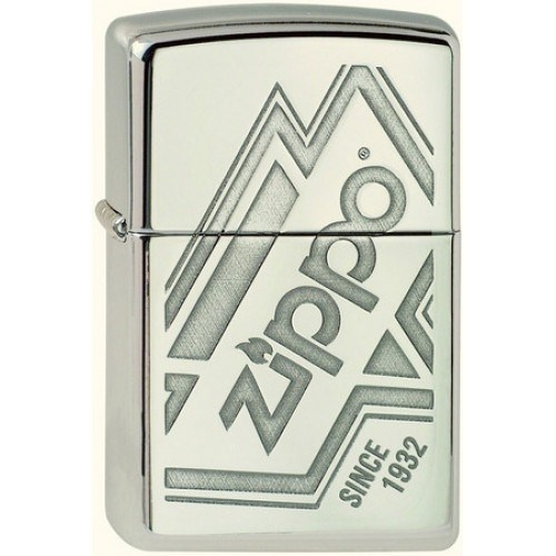Широкая зажигалка Zippo Logo 319 - фото 283036