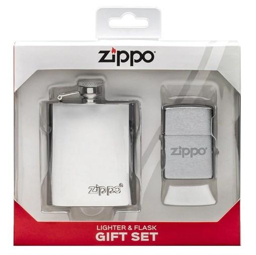 Подарочный набор ZIPPO фляжка и зажигалка 49098 - фото 284812