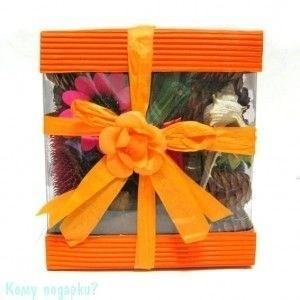 Сухоцветы в коробке, 16х14х7 см - фото 41785