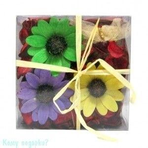 Сухоцветы в коробке, 14х14х5 см - фото 41788