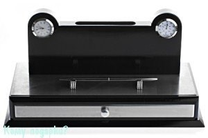 Набор настольный с часами, термометром и ручкой, 33х16 см - фото 41873