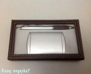 Набор подарочный офисный для мужчин, 15х9х2 см, брелок, калькулятор - фото 41881
