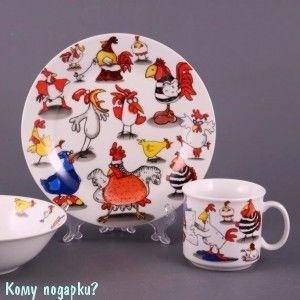 """Детский набор посуды на 1 персону """"Курятник"""", 3 пр. - фото 42009"""