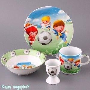 """Детский набор посуды на 1 персону """"Футболисты"""", 4 пр. - фото 42018"""