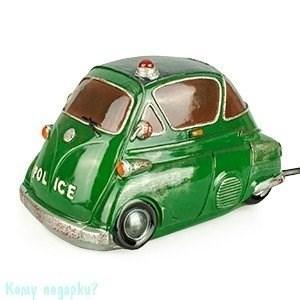 "Ночник ""Автомобиль полиции"", 19х10х11 см, зеленый - фото 42190"