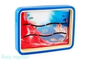"Картина песочная с зеркалом ""Рыбки"", 23х17 см - фото 42319"