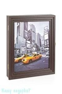 "Ключница настенная ""Нью-Йорк"" на 7 ключей, 25х30 см - фото 42354"