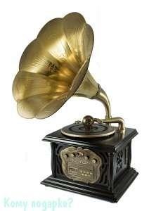 Музыкальный центр-ретро «Граммофон» с пультом, 35х40х85 см - фото 42533