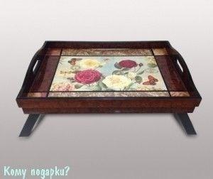 Столик-поднос «Цветы», 48x33x8,5 см - фото 42577