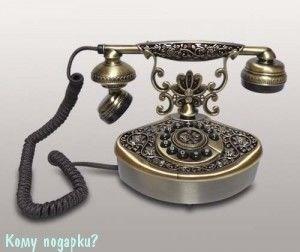 Ретро телефон, 16x12x16 см - фото 42612