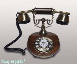Ретро телефон, 17x17x20 см - фото 42613
