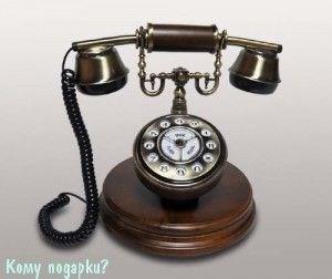 Ретро телефон, 20х20х23 см - фото 42614