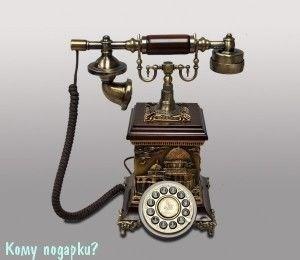 Ретро-телефон, кнопочный - фото 42615