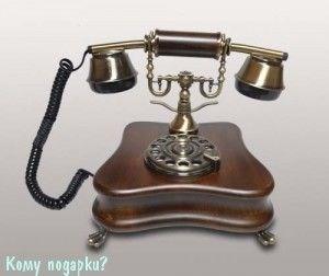 Ретро телефон, 20х18х20 см - фото 42616