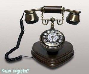 Ретро телефон, 22x20x23 см - фото 42617