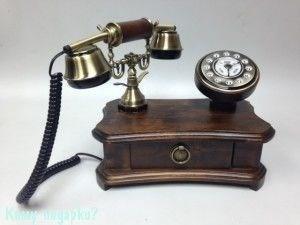 Ретро телефон кнопочный, 26x23x16 см - фото 42618