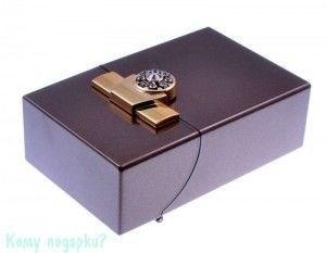 Портсигар, 9,5x6x3 см, бронза, золото - фото 42747