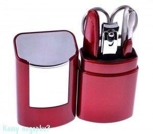 Маникюрный набор, 5 пр., 11,5x5 см, красный/серебро - фото 42917