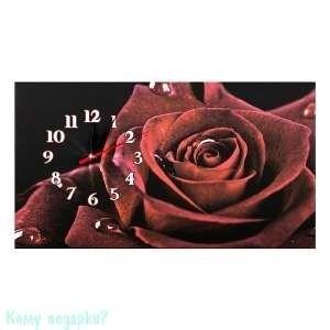 Канвас с часами «Роза», 30x53 см - фото 43006