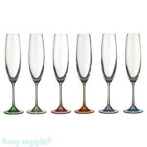 """Бокалы для шампанского """"Барбара декорейшн"""" 6 шт, 250 мл., h=26 см - фото 43047"""