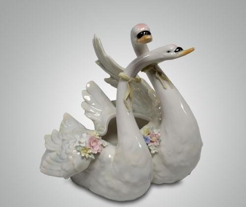 Статуэтка «Пара лебедей», 27 см - фото 43072