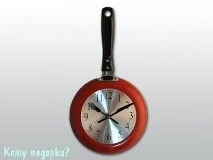 """Часы кухонные """"Сковородка"""" - фото 43290"""