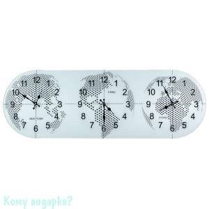 Часы настенные с мировым временем, 38х115 см - фото 43297