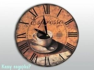"""Часы настенные с рисунком """"Чашка кофе"""" - фото 43300"""